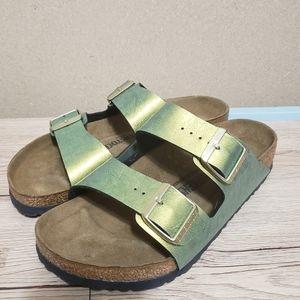 Birkenstock Arizona Gemm Gold Sandals Size 40